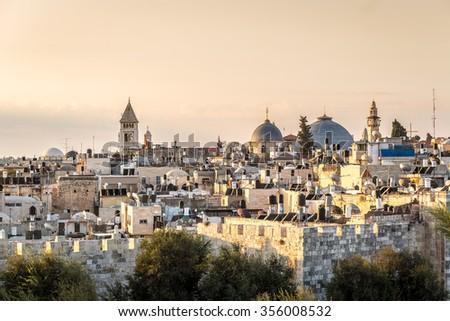 Christian quarter of Jerusalem, Israel - stock photo