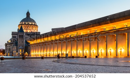 Christian Science Plaza in Boston - stock photo