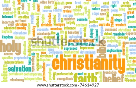 Christianity or Christian Religion as a Concept - stock photo