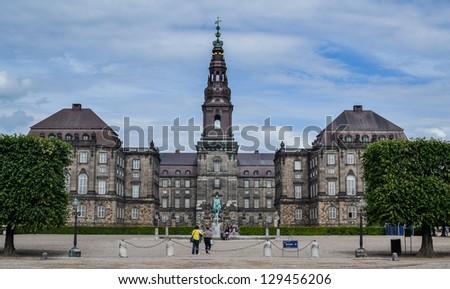Christiansborg, Copenhagen, Denmark - stock photo