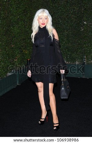 Christina Aguilera  at the Louis XIII Black Pearl Cognac Party. Wallis Annenberg Cultural Center, Beverly Hills, CA. 11-10-08