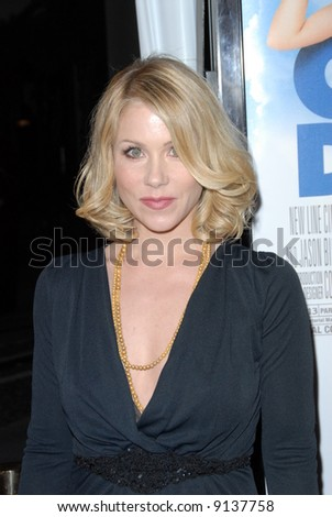"""Christina Applegate at the premiere of """"Over Her Dead Body"""" held at the ArcLight Cinema in Hollywood, Los Angeles - 29 January 2008.  Credit: Entertainment Press - stock photo"""