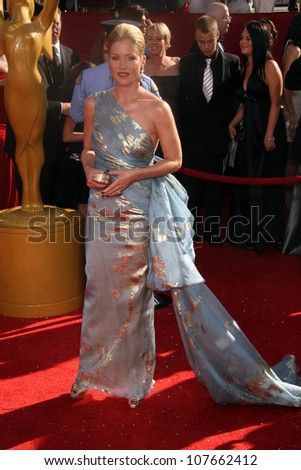 Christina Applegate  at the 60th Annual Primetime Emmy Awards Red Carpet. Nokia Theater, Los Angeles, CA. 09-21-08