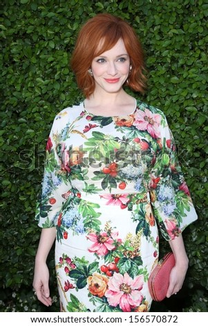 Christina Hendricks at The Rape Foundation's Annual Brunch, Private Location, Beverly Hills, CA 09-29-13 - stock photo