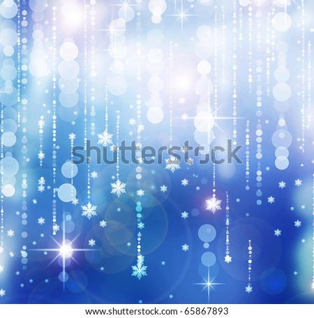 Christmas Abstract Background.Winter Holidays illustration - stock photo