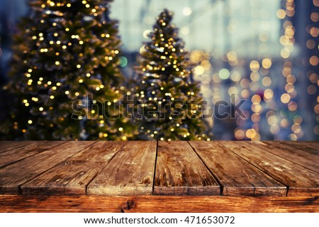 Christmas Abstract Blur Background