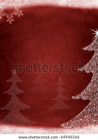 Christmas abstract fur-tree. It is created from set of different snowflakes
