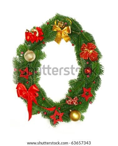 "Christmas Alphabet Letter ""O"" - stock photo"