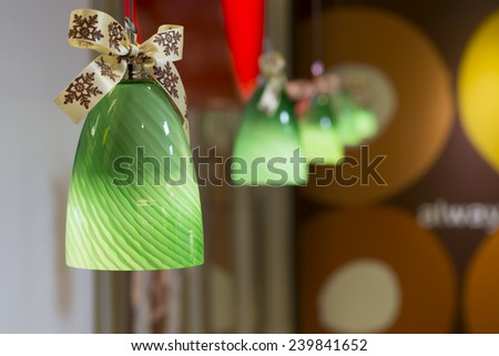 Christmas and decorations lights - Stock Image - stock photo