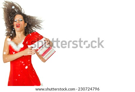 Christmas and New Year gifts - stock photo