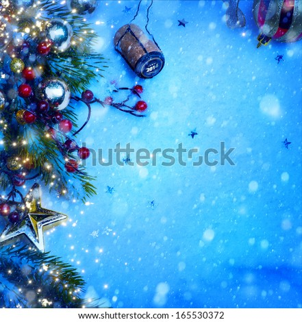 Christmas and 2014 New year party  - stock photo