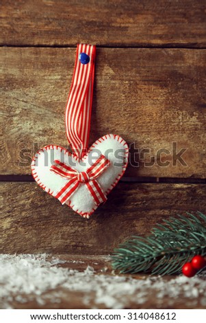 Christmas angel on wooden background - stock photo