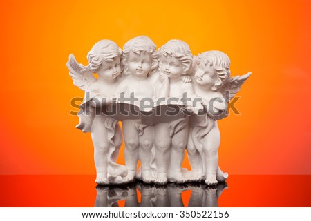 Christmas angel statuette