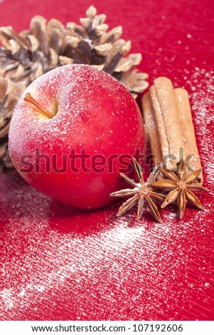 christmas apple anise and cinnamon for holidays
