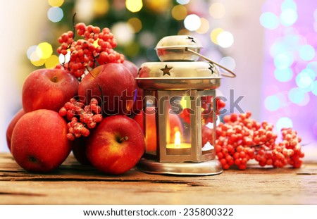 Christmas apples - stock photo
