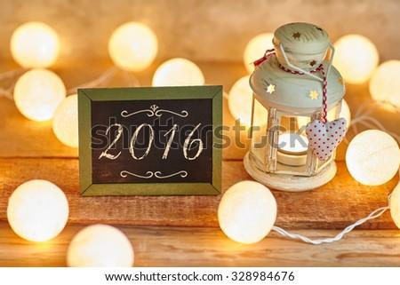 Christmas background 2016  - stock photo