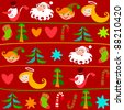 Christmas background.Bitmap copy my vector ID 87966916 - stock vector