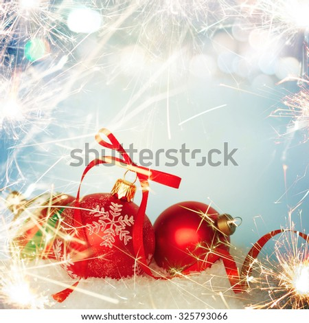Christmas background border with sparkle