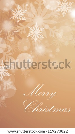 Christmas background card - stock photo
