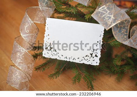 Christmas background card with place for your text. - stock photo