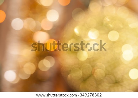 Christmas background. Festive abstract background with bokeh defocused lights and stars. - stock photo
