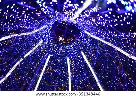 Christmas background. Festive elegant abstract background with lights and stars - stock photo