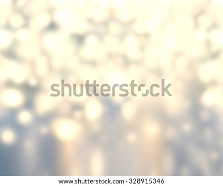 Christmas Background - Glitter Abstract circular bokeh. Golden Holiday Abstract Glitter Defocused Background. Blurred Bokeh - stock photo