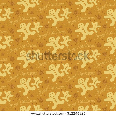 Christmas background good for wrapping paper wallpaper for web design Christmas ornaments seamless pattern Christmas decoration ideas holiday yellow color - stock photo