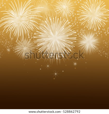 Christmas Background. Holiday Abstract Background With Fireworks e