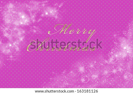 Christmas background in pink with merry Christmas written on it - stock photo