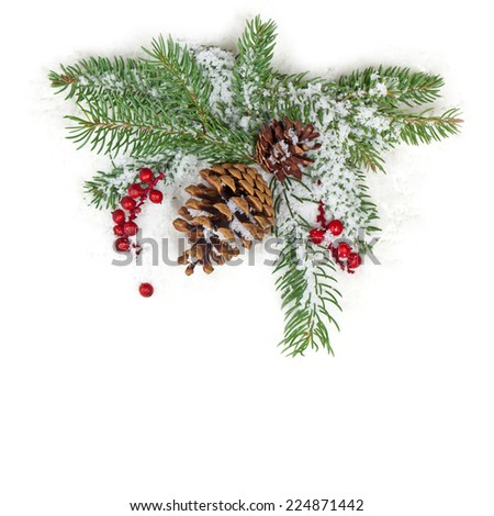 Christmas background Isolated on White Background