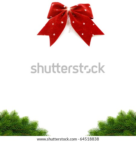 christmas background of fir-tree branches - stock photo