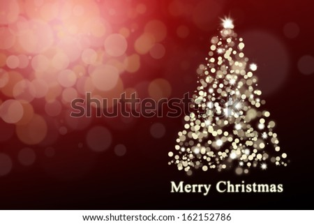Christmas background: Shiny christmas tree