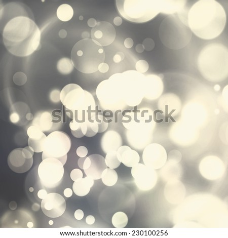 Christmas Background. Silver, champagne Holiday Abstract Glitter Defocused Background With Blinking Stars. Blurred Bokeh - stock photo