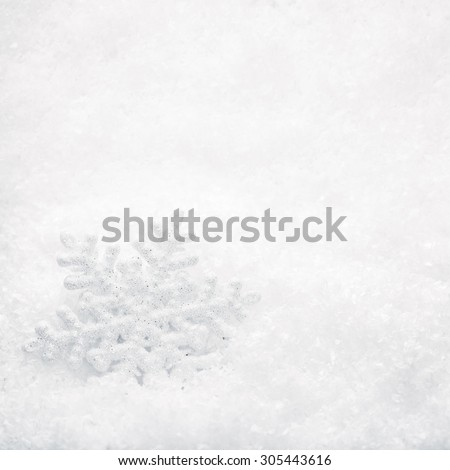 Christmas Background. Snowflake on Snow