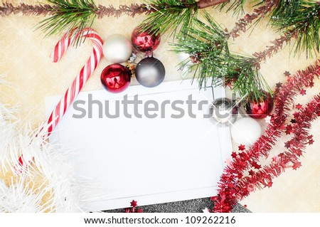 Christmas background wallpaper with glitter and candy cane - stock photo