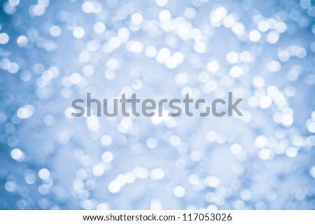 Christmas Background winter sparkle blue - stock photo