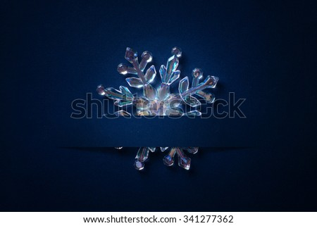Christmas background with a silver ornament, Christmas stars - stock photo