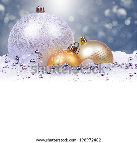 Christmas background with balls - stock photo