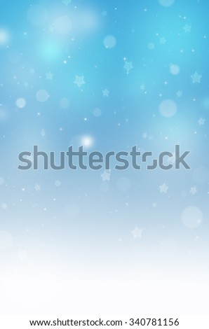Christmas background with blur blue lights - stock photo
