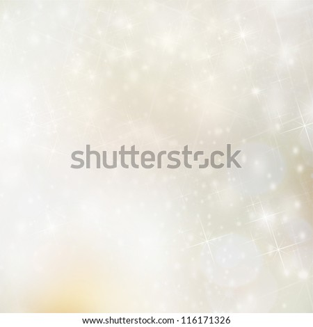 Christmas background with blur golden lights - stock photo