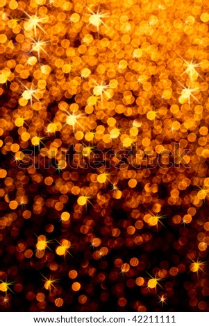 Christmas background with blurred light effect - stock photo