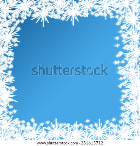 Christmas Background with Blurred Snowflakes