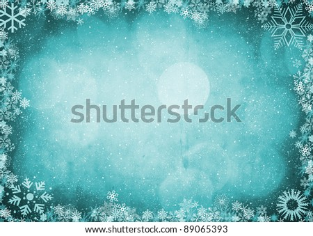 Christmas background with bokeh - stock photo