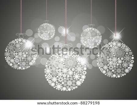 Christmas background with christmas balls. - stock photo