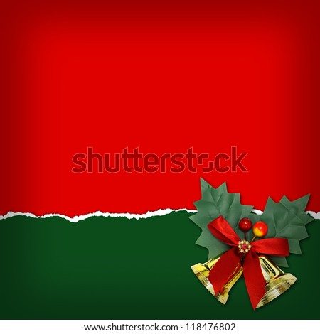 Christmas background with Christmas bells - stock photo