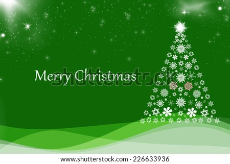 Christmas background with Christmas tree, - stock photo