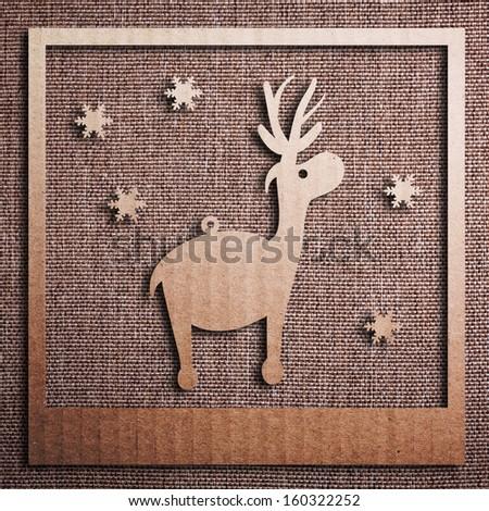 Christmas background with Christmas tree, illustration. - stock photo