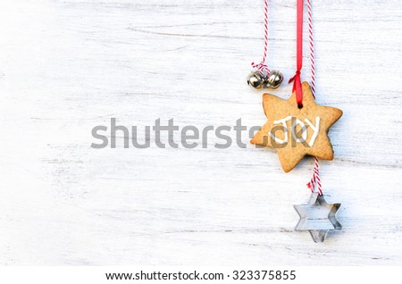 Christmas Background Gingerbread Decorations Silver Bells Stock Delectable Silver Bells Decorations