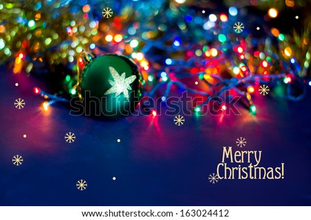 Christmas background with greeting inscription - stock photo